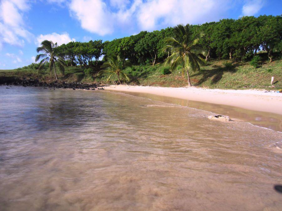 Фото пляж Анакена в Рапа-Нуи