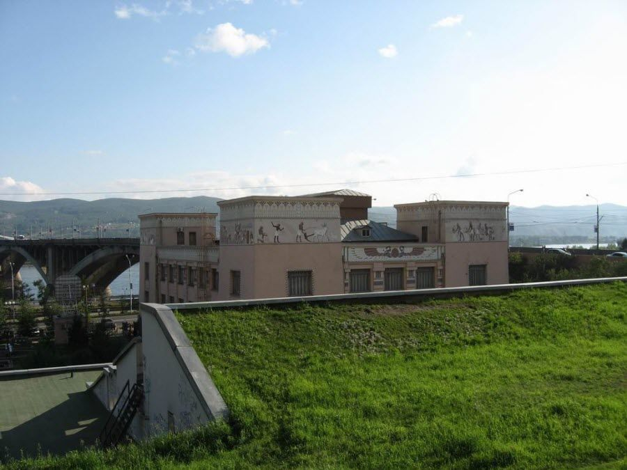 Вид на Енисей с музея фото