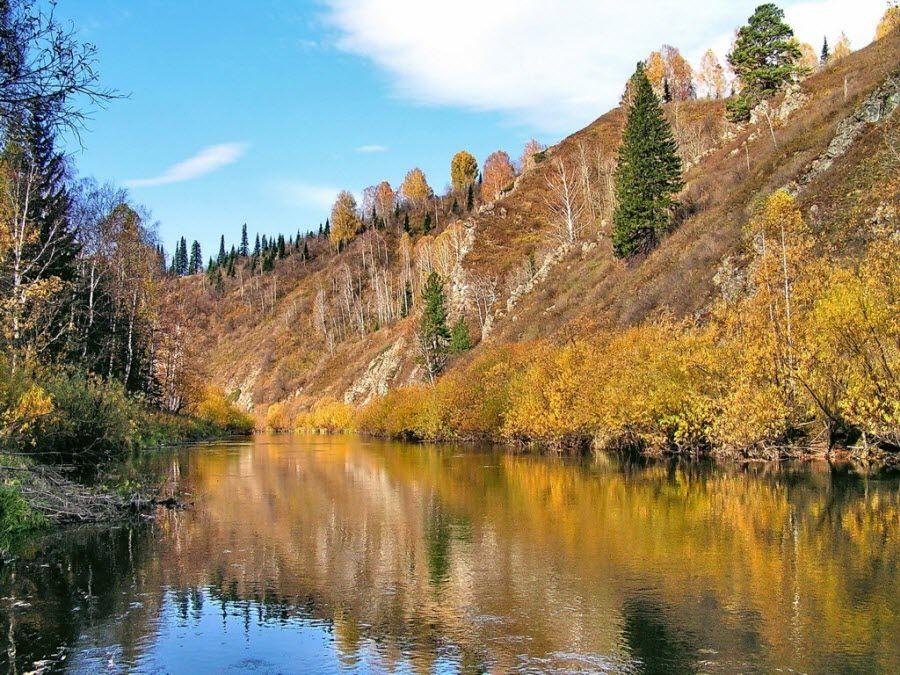 Фото Салаирский кряж осенью
