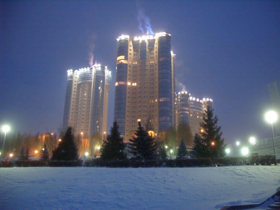 Фото небоскребы Самары зимой
