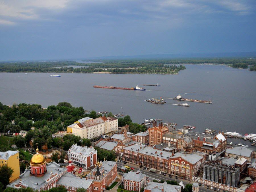 Фото панорама города Самара в России
