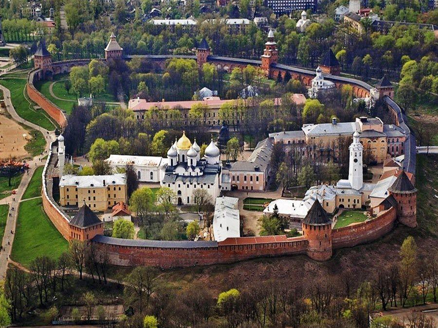 Панорама Кремля в Нижнем Новгороде фото