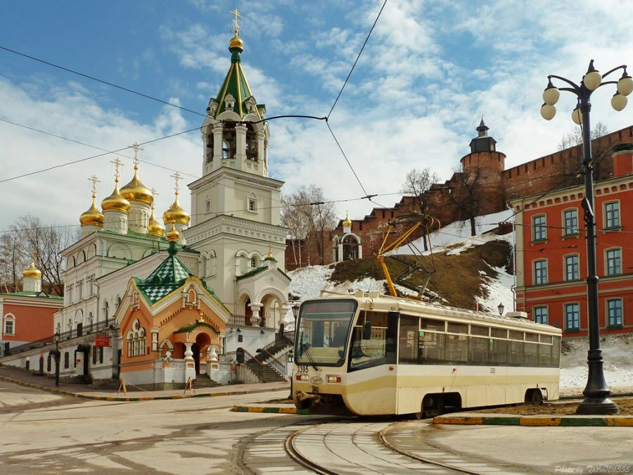 Трамвайное кольцо Скоба в Нижнем Новгороде фото
