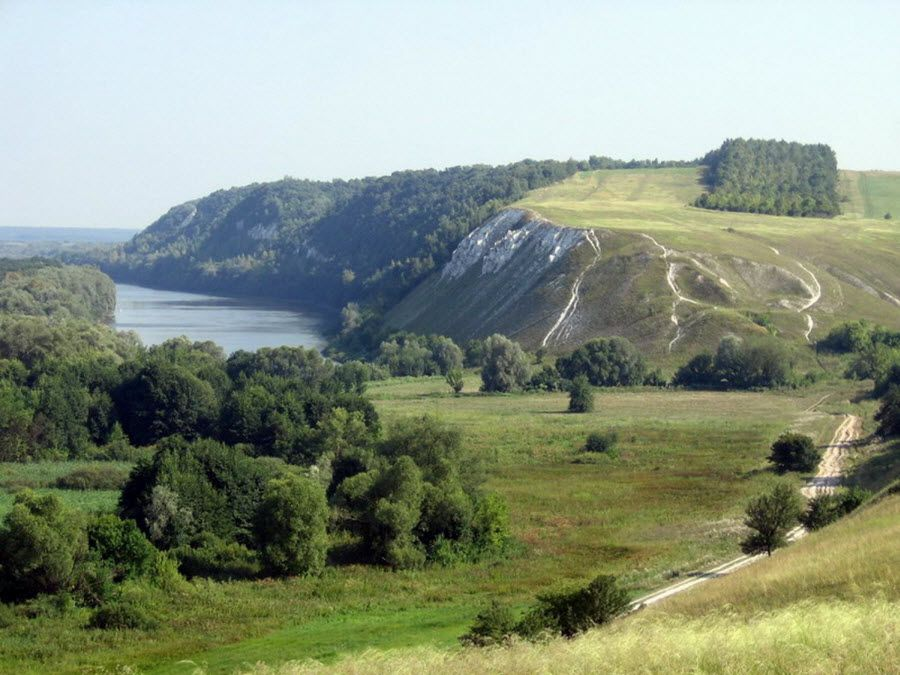 Панорама Долины Хопра в Саратовской области фото