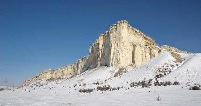 Белогорск Белая скала Ак-Кая зимой