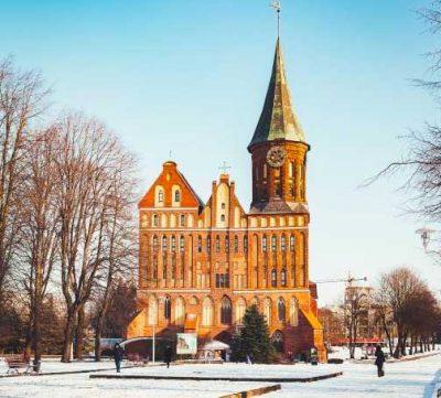 калининград Кафедральный собор зима