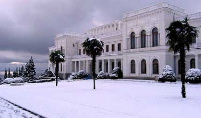 Ливадийский дворец зимой ялта