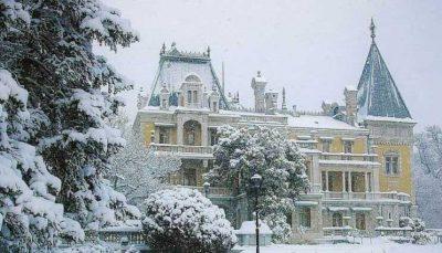 Массандровский дворец зимой