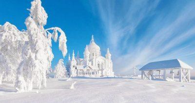 Морозная русская зима