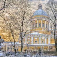 петербург Александро-Невская лавра зимой