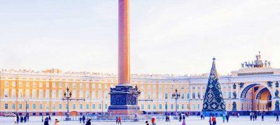петербург Дворцовая площадь зимой