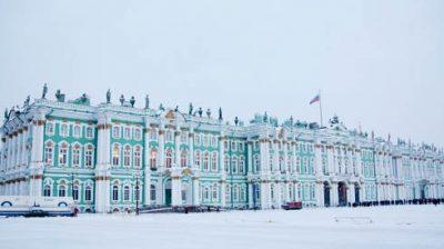 петербург Эрмитаж зимой