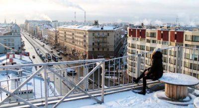 петербург Этажи зимой