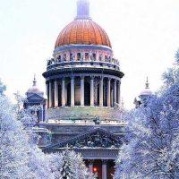 петербург Казанский собор зимой