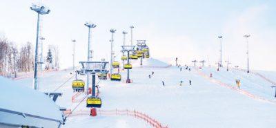 петербург Курорт «Охта парк» зимой