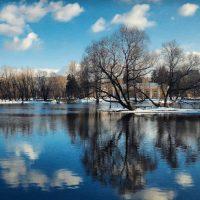 петербург Московский парк Победы зимой