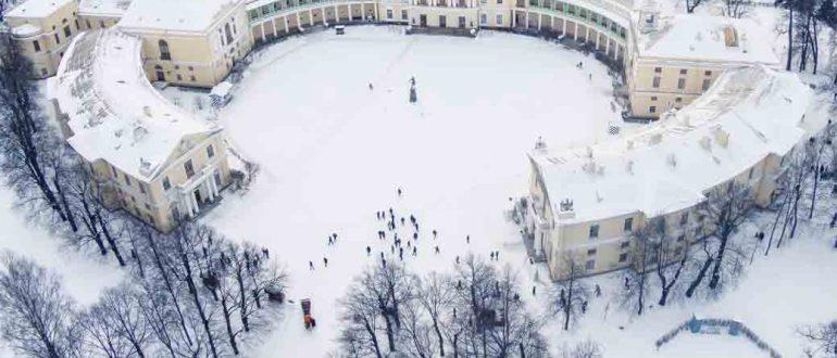 петербург Павловский парк зимой