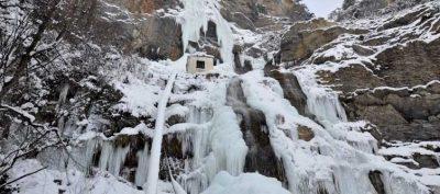 Водопад Учан Су зимой ялта