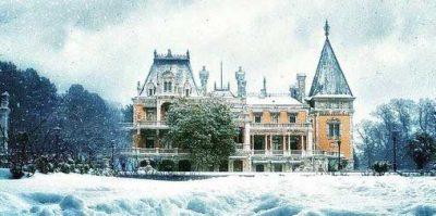 ялта Воронцовский дворец зимой