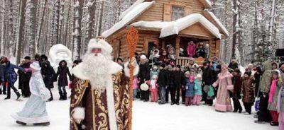 5 Кемеровская область резиденция кузбасского Деда Мороза «Томская писаница»