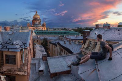 Путешествия по крышам Санкт-Петербурга