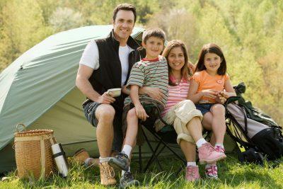Поход с палатками всей семьей